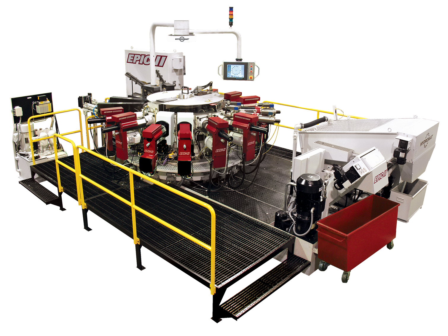 Hydromat EPIC II Indexing Chuck Rotary Transfer Machine