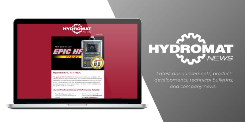 Hydromat News | Stay connected and informed. Sign-up to receive Hydromat's latest announcements, product developments, technical bulletins, and company news.