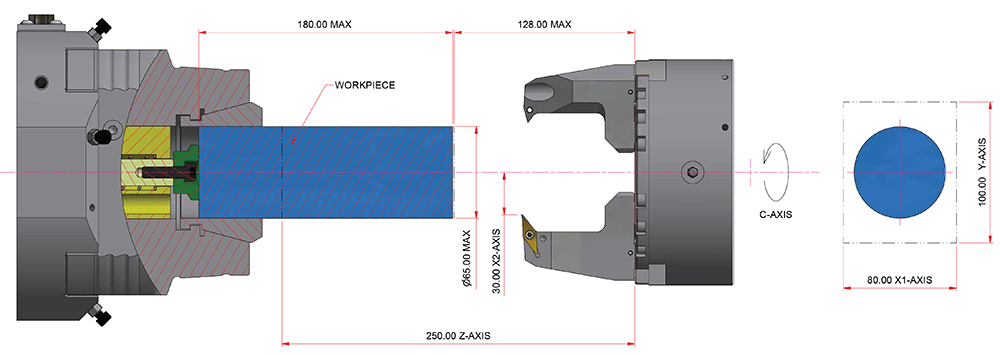 Eclipse 12 100 55/250 4-Axis Profile Toolspindle Diagram